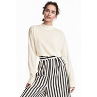 H&M Sweter z wełny merynosowej 0522347001 Biały