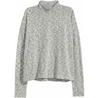 H&M Sweter z półgolfem 0563024001 Szary melanż