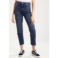 Topshop STRAIGHT Jeansy Straight Leg dark blue TP721N02V