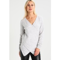 Vila VICANT WRAP Sweter light grey melange V1021I0LD