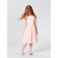 Mohito Dziewczęca sukienka z kwiatową aplikacją LITTLE PRINCESS TK001-03X