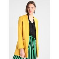 Dorothy Perkins PATCH POCKET COAT Krótki płaszcz yellow DP521U01M