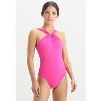 MICHAEL Michael Kors LOGO BAR HIGH NECK ONEPIECE Kostium kąpielowy ultra pink MK181G002