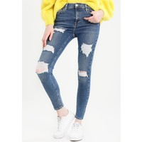 Topshop SUPER RIP JAMIE Jeans Skinny Fit blue denim, blue TP721N04I