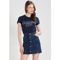 Topshop Tall JE NE SAIS QUOIT T-shirt z nadrukiem navy blue TOA21D006