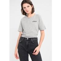 ONLY ONYBONE EMBROIDERY BOX T-shirt z nadrukiem light grey melange/chérie ON321D1DY