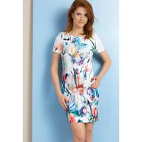 Monnari Sukienka w wielobarwne kwiaty SUKPOL0-18L-DRE3310-KM00D601-R36
