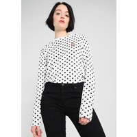 Envii ENMOTO TEE SHAKE Bluzka z długim rękawem white/black EI421D00J