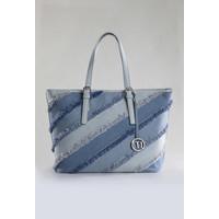 Monnari Jeansowa torba z przywieszką TORIMP0-18W-BAG6420-K012D000-R00