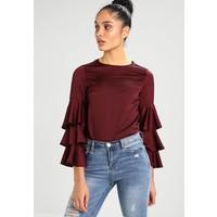 New Look TRIPLE TIERRED Bluzka dark burgundy NL021E0LE