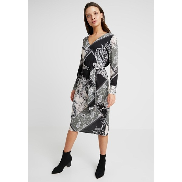 Wallis Petite PATCHWORK PAISLEY TIE DRESS Sukienka z dżerseju khaki WP021C055