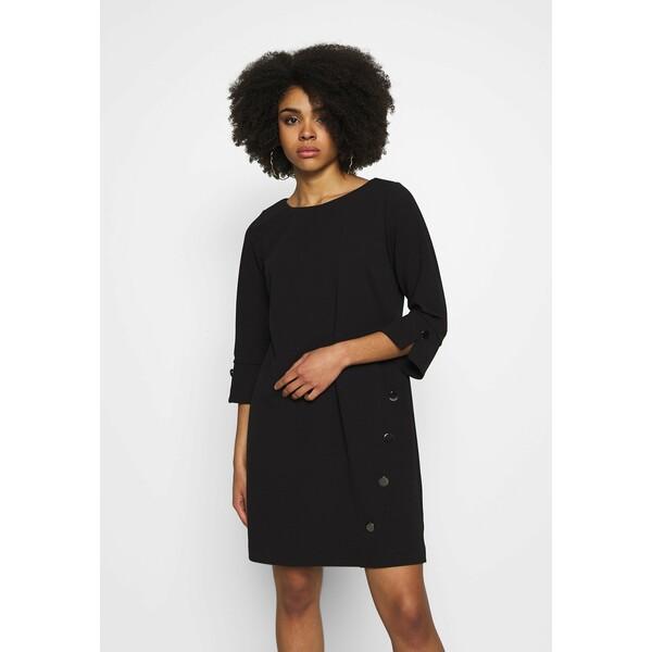 Wallis Petite BUTTON SHIFT DRESS Sukienka letnia black WP021C07C