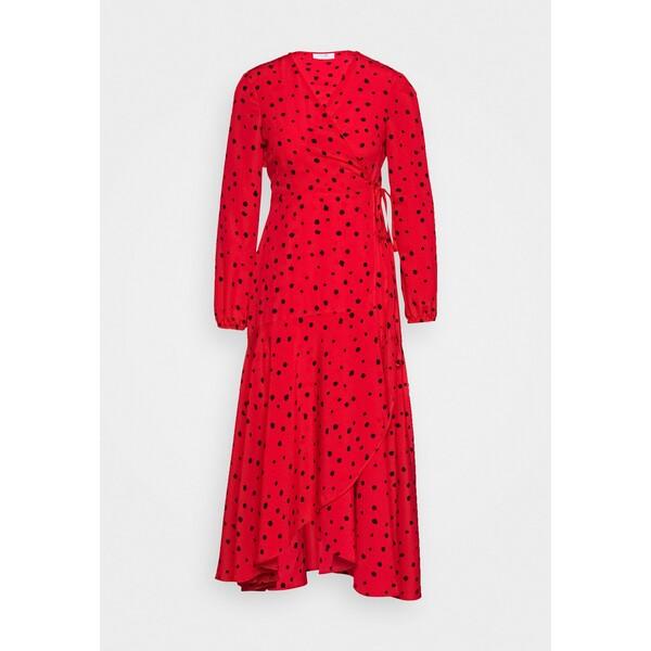 Wallis Petite CORAL SPOT WRAP MIDI Sukienka letnia red WP021C080