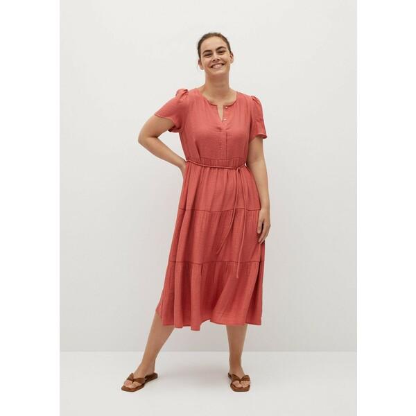 Mango Sukienka tenci Koralowy 77062502-TENCI-LV