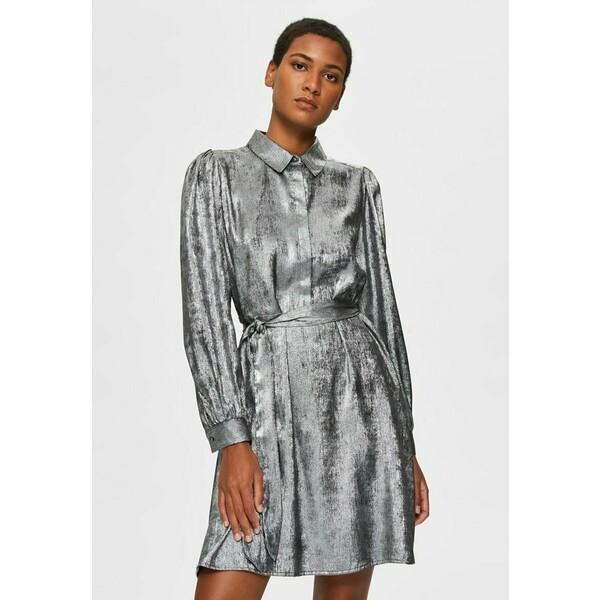 Selected Femme Sukienka koszulowa silver SE521C0YP