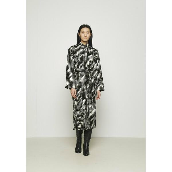 ARKET ZIG ZAG DRESS Długa sukienka brown ARU21C00V
