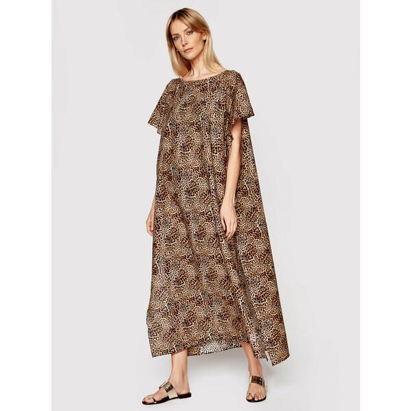 Liu Jo Sukienka plażowa 2A1079 T0300 Brązowy Loose Fit