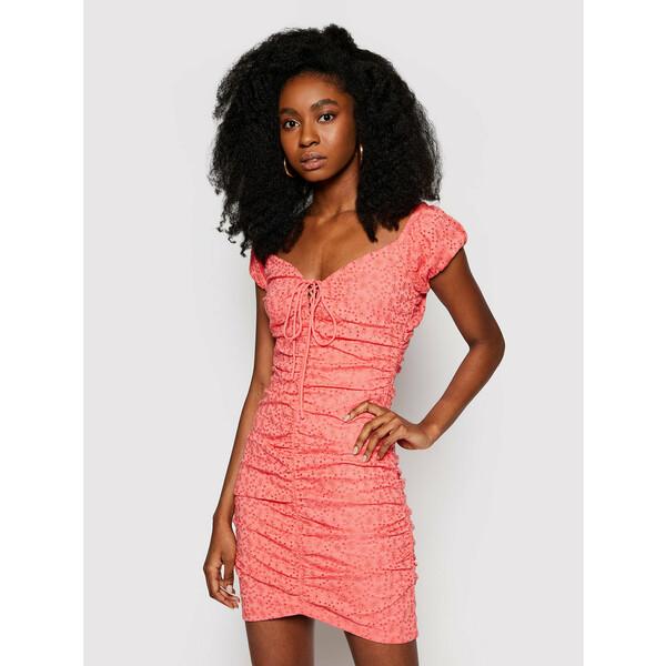 Guess Sukienka letnia W1GK0F KALQ0 Czerwony Slim Fit