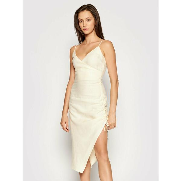 NA-KD Sukienka letnia 1018-006817-0140-581 Beżowy Slim Fit