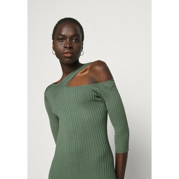 Patrizia Pepe ABITO DRESS Sukienka dzianinowa moss green P1421C0GH