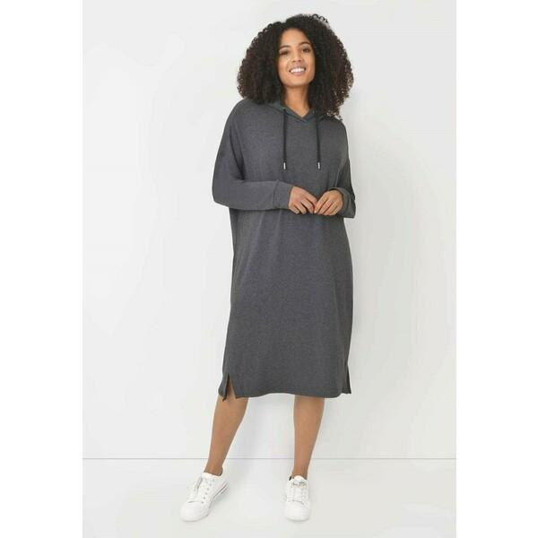 Live Unlimited London Sukienka letnia dark grey L0J21C052
