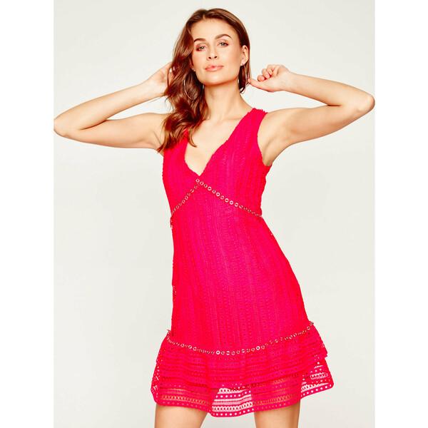 Guess Sukienka koktajlowa Leandra W0GK50 WCTQ0 Różowy Regular Fit