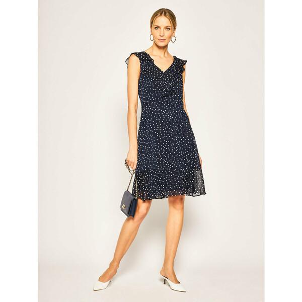 DKNY Sukienka koktajlowa DD9AJ153 Granatowy Slim Fit