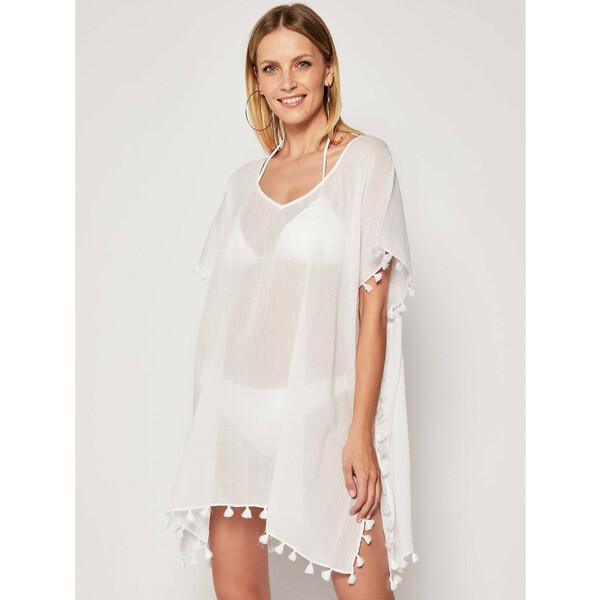 Seafolly Sukienka plażowa Amnesia 52162 Biały Regular Fit