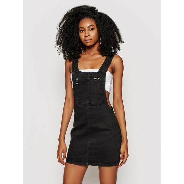 Pepe Jeans Sukienka jeansowa Aspen PL952811 Czarny Regular Fit