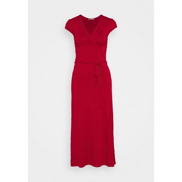 Anna Field Short sleeves wrap belted maxi dress Długa sukienka red AN621C1N6