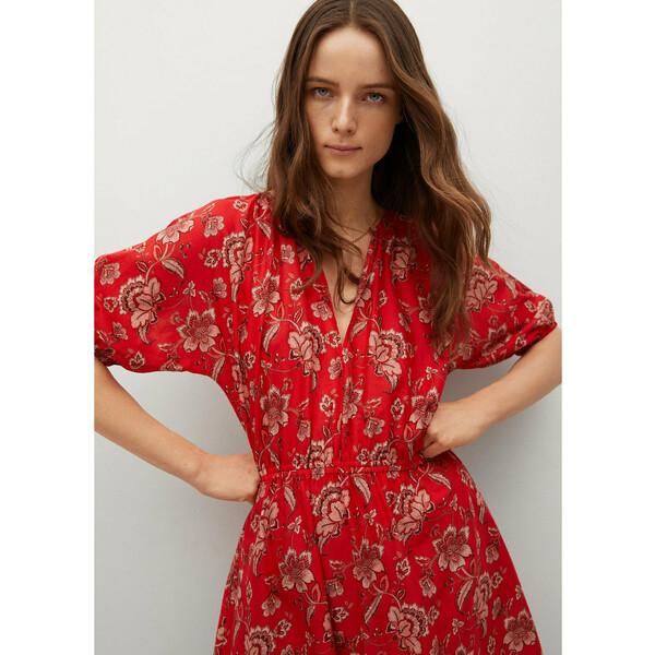 Mango Sukienka letnia Calabasa 87018634 Czerwony Regular Fit