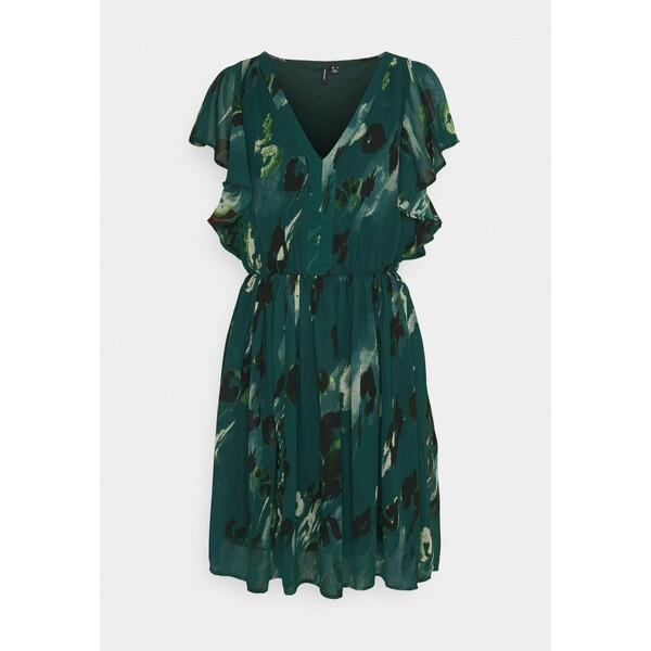 Vero Moda VMSASHA CAP SLEEVE DRESS Sukienka letnia sea moss VE121C2U0