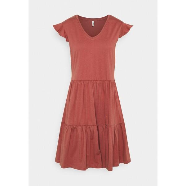 ONLY ONLMAY LIFE CAP SLEEVES FRILL DRESS Sukienka z dżerseju apple butter ON321C2AZ