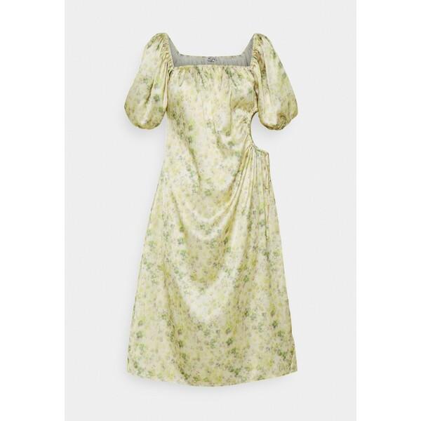 NA-KD PUFF SLEEVE CUT OUT DRESS Sukienka koktajlowa green NAA21C0K8