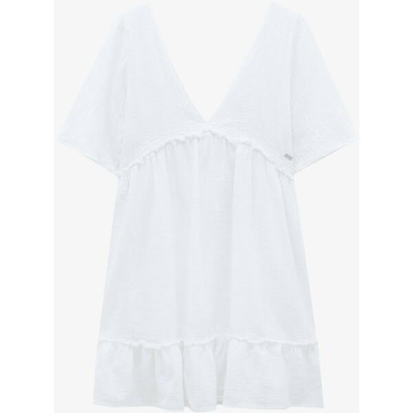 PULL&BEAR Sukienka letnia white PUC21C0PM