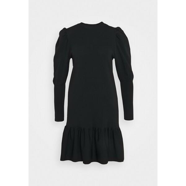 YAS Petite YASINES DRESS Sukienka dzianinowa black YA521C00H