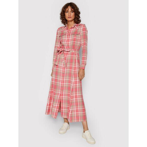 Polo Ralph Lauren Sukienka koszulowa 211843096001 Różowy Regular Fit