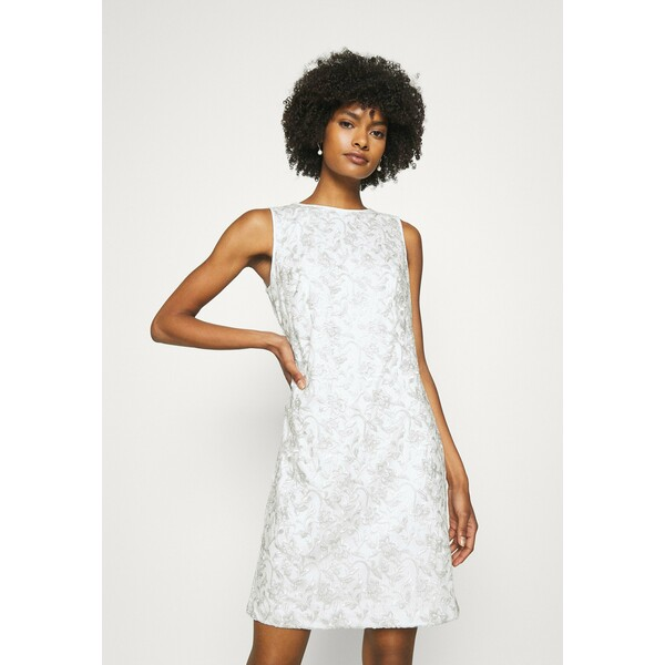 Lauren Ralph Lauren MELLIE SLEEVELESS EVENING DRESS Sukienka koktajlowa white/silver L4221C18M