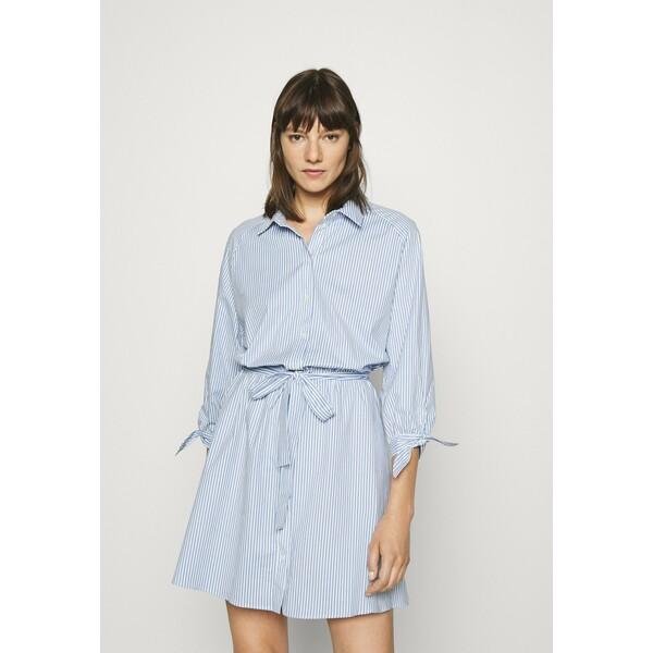 NAF NAF Sukienka koszulowa bleu marine/ecru NA521C14H