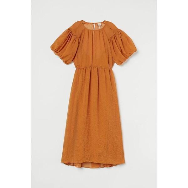 H&M Szeroka sukienka 0880716003 Pomarańczowy