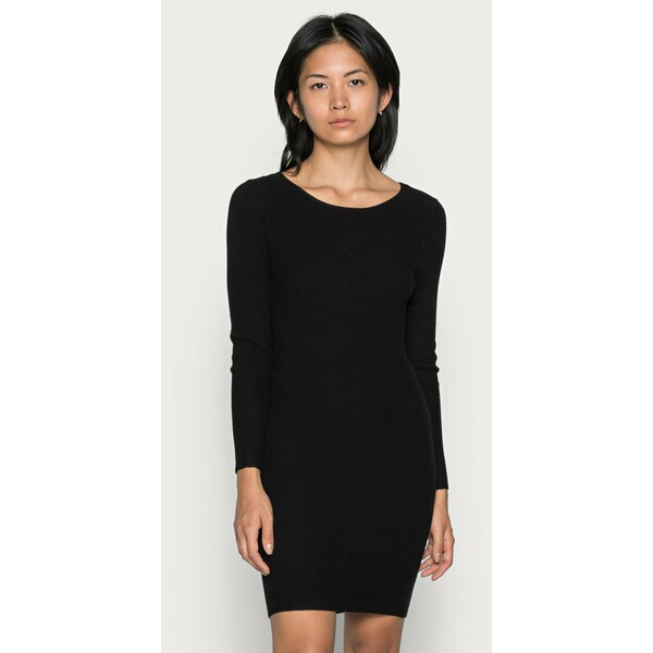 ONLY Petite ONLNEELA DRESS Sukienka dzianinowa black OP421C0AY