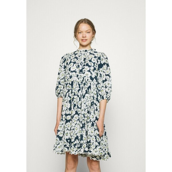 byTiMo DOBBY MIDI DRESS Sukienka koszulowa blue BYH21C012