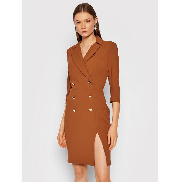 Rinascimento Sukienka koktajlowa CFC0105023003 Brązowy Slim Fit
