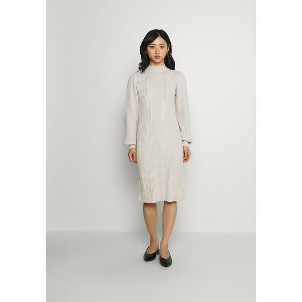 Object Petite OBJMAKENZY DRESS Sukienka dzianinowa silver gray OB821C03K