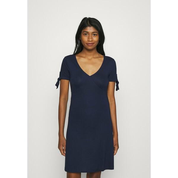 Even&Odd Sukienka z dżerseju dark blue EV421C14Z