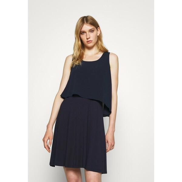 DKNY POPOVER DRESS Sukienka z dżerseju spring navy DK121C0D2