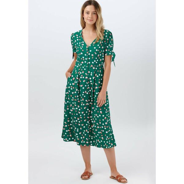 Sugarhill Brighton VERONICA DAPPLED SPOT Sukienka letnia green SUP21C03W