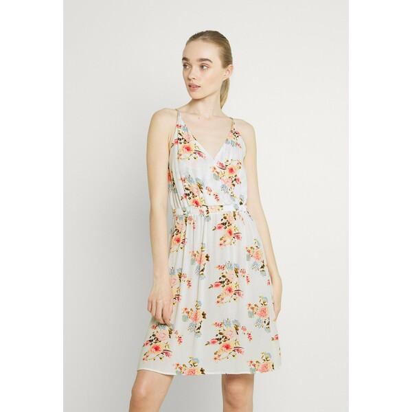 Vila VIMESA SHORT DRESS Sukienka letnia snow white V1021C2HI