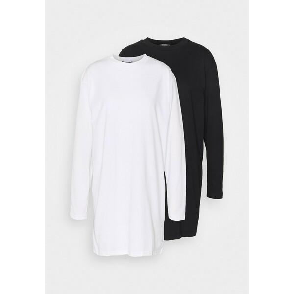 Missguided Tall BASIC DRESS 2 PACK Sukienka z dżerseju white MIG21C087