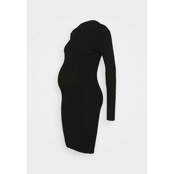 Anna Field MAMA Sukienka dzianinowa black EX429F036